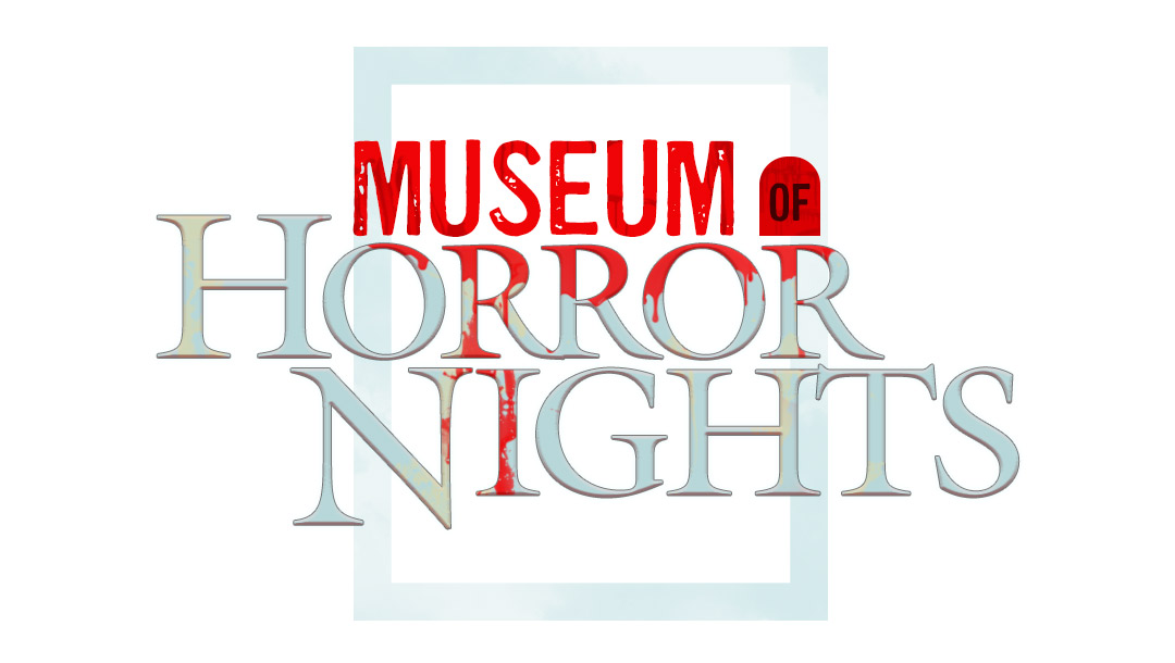 2020 HHN10th Anniversary Museum of Horror Nights hero white