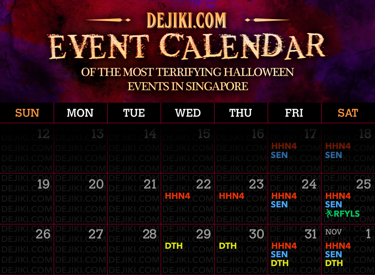 Halloween Singapore 2014 Event Calendar