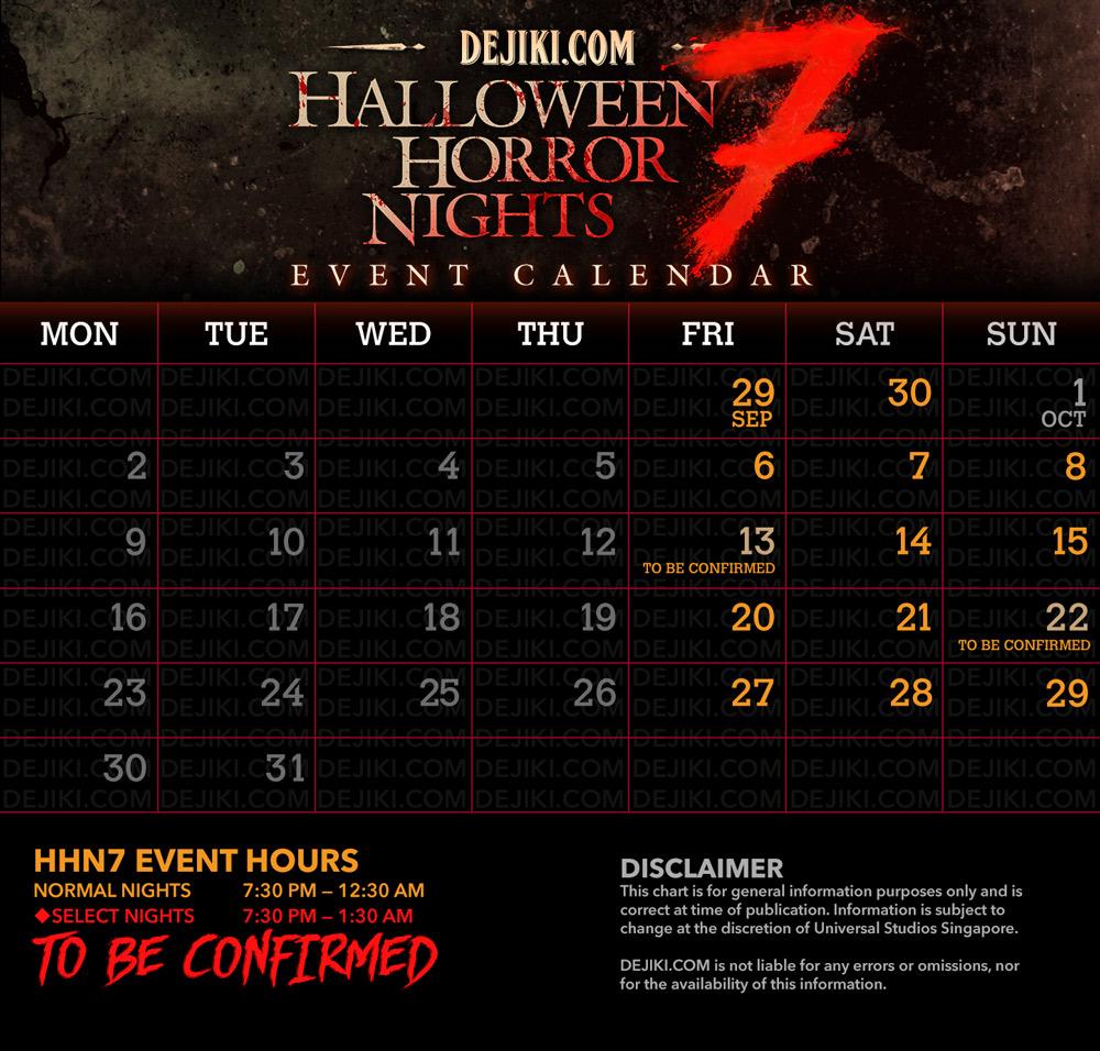 Halloween horror nights dates in Brisbane