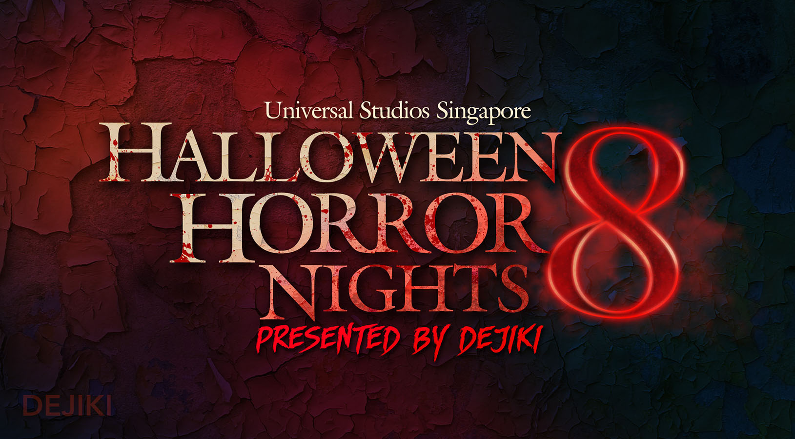 Halloween Horror Nights 8 logo by Dejiki.com Full Event Line-Up and Ticketing Information