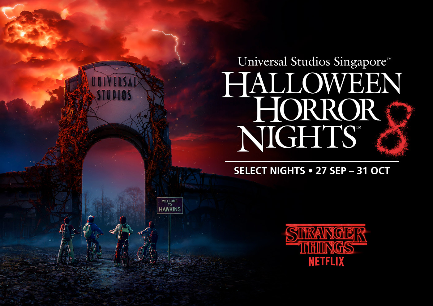 Stranger Things at USS Halloween Horror Nights 8 - Read all about it at Dejiki.com Full HHN8 Event Line-Up and Ticketing Information