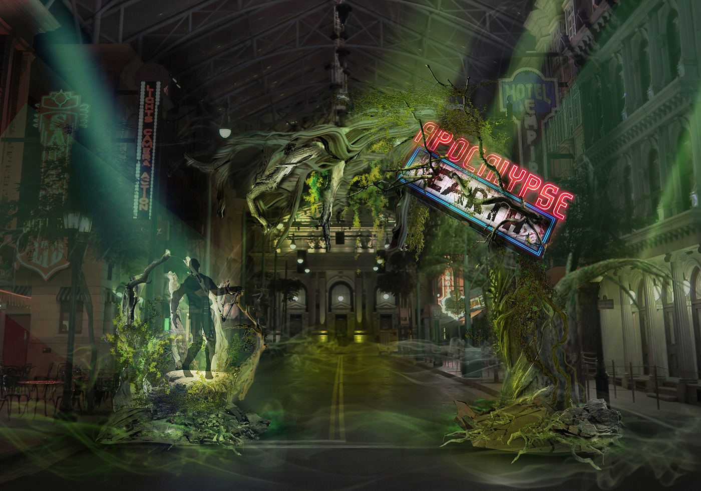 Apocalypse Earth scare zone at USS Halloween Horror Nights 8 - Read all about it at Dejiki.com Full HHN8 Event Line-Up and Ticketing Information