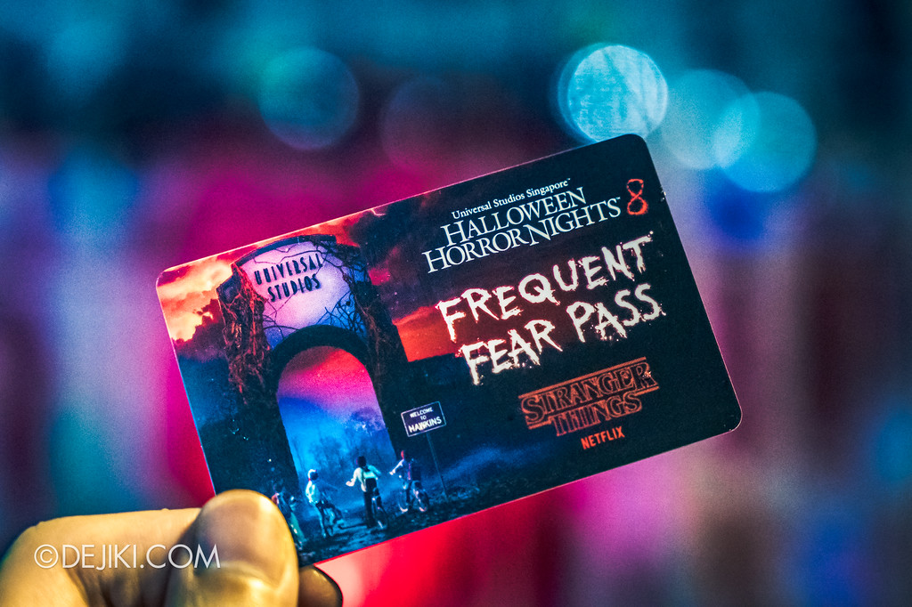 HHN8 Halloween Horror Nights 8 Stranger Things Frequent Fear Pass 2018