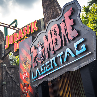 Universal Studios Singapore Halloween Horror Nights 8 Zombie Laser Tag entrance
