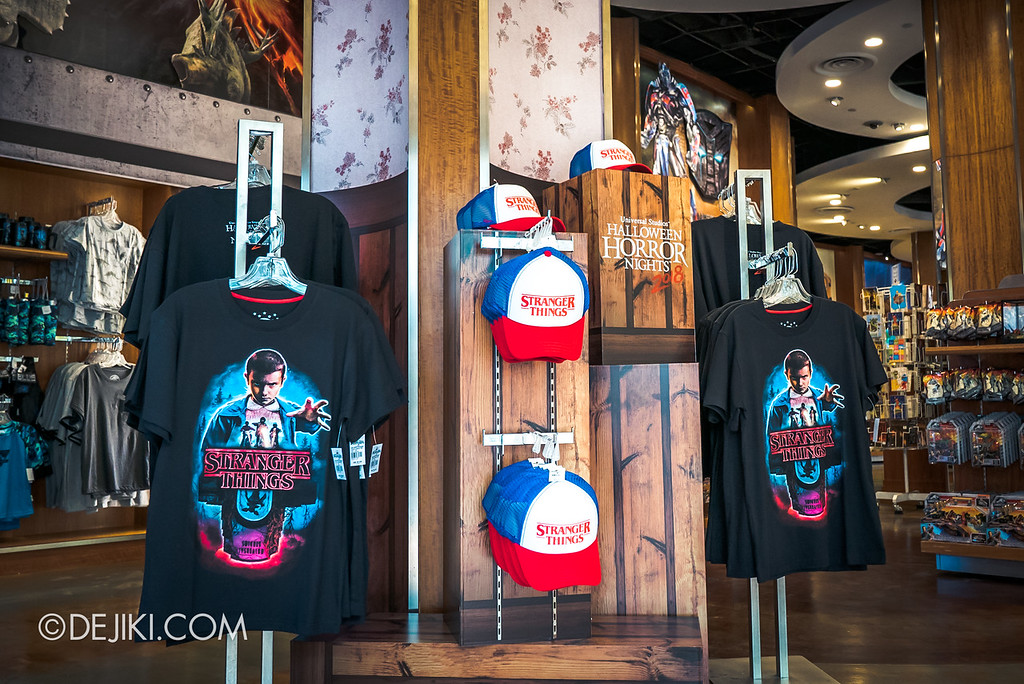 USS Halloween Horror Nights 8 Stranger Things Singapore merchandise shirt and hat