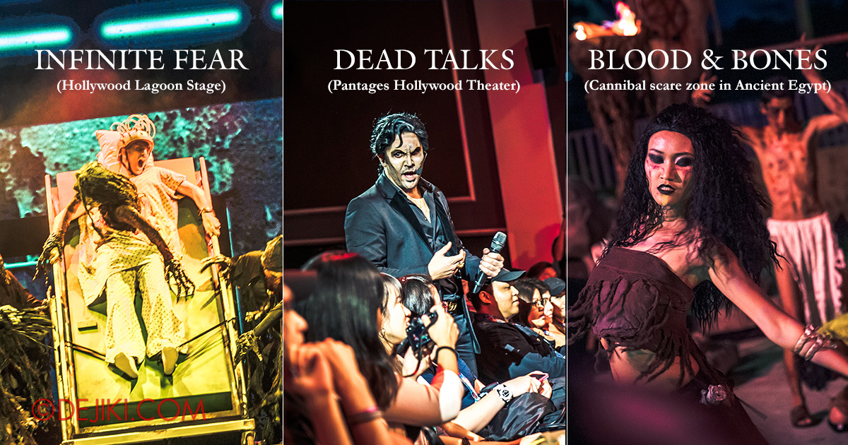 USS Halloween Horror Nights 8 Survival Guide 3 Killer Shows Infinite Fear, Dead Talks, Blood & Bones