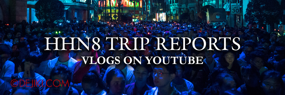 USS Halloween Horror Nights 8 Survival Guide Vlog Banner