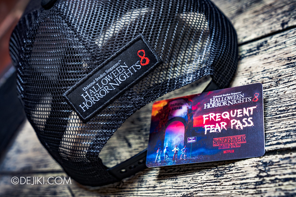 Universal Studios Singapore Halloween Horror Nights 8 / Limited Time Sale exclusive Stranger Things cap and Frequent Fear Pass