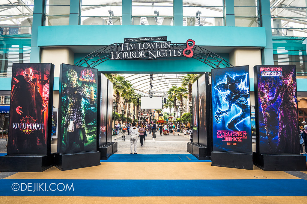 Universal Studios Singapore Halloween Horror Nights 8 - Park Entrance Icons Characters