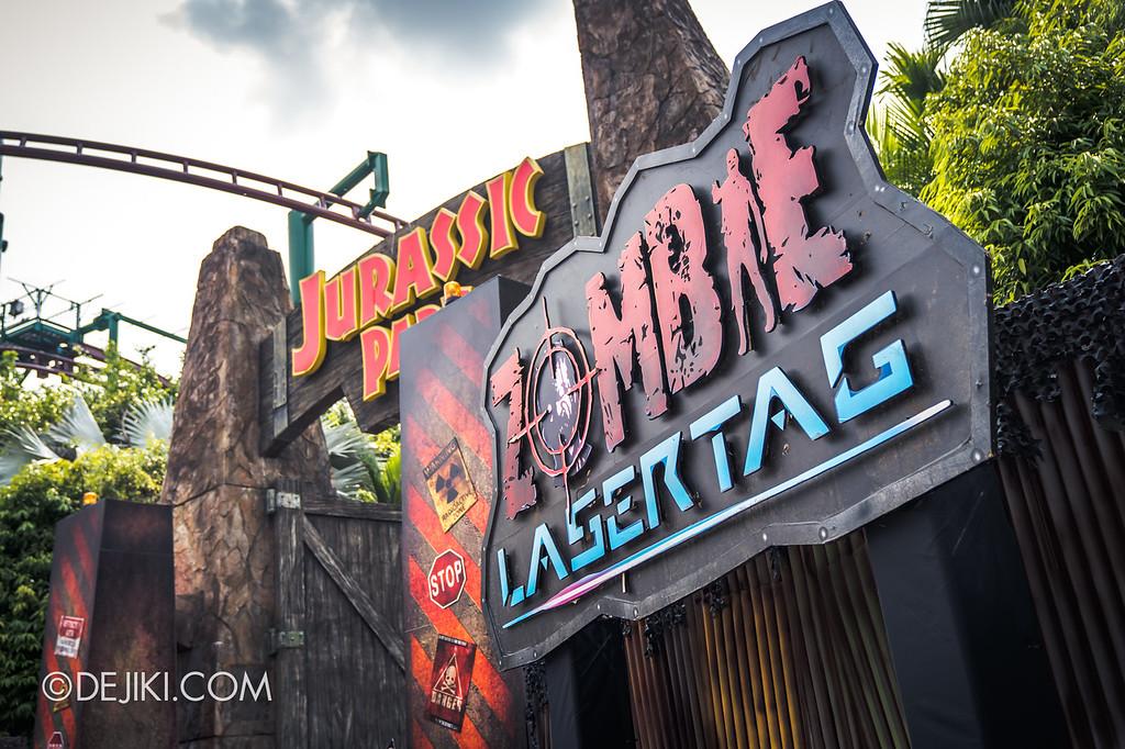 Universal Studios Singapore Halloween Horror Nights 8 / Zombie Laser Tag 2018 entrance hero