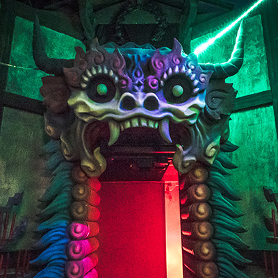 Halloween Horror Nights 8 - Pagoda of Peril haunted house Yin Demon gate