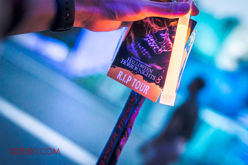 USS Halloween Horror Nights 8 RIP Tour Review - Exclusive Stranger Things lanyard and RIP Tour credentials