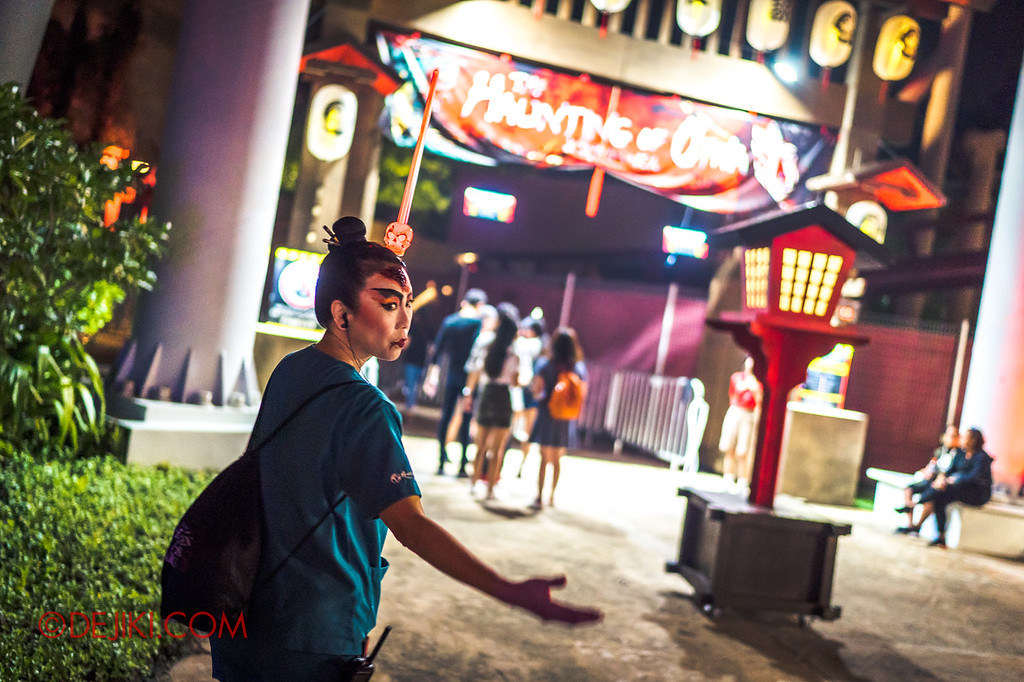 USS Halloween Horror Nights 8 RIP Tour Review - Going through VIP access at The Haunting of Oiwa