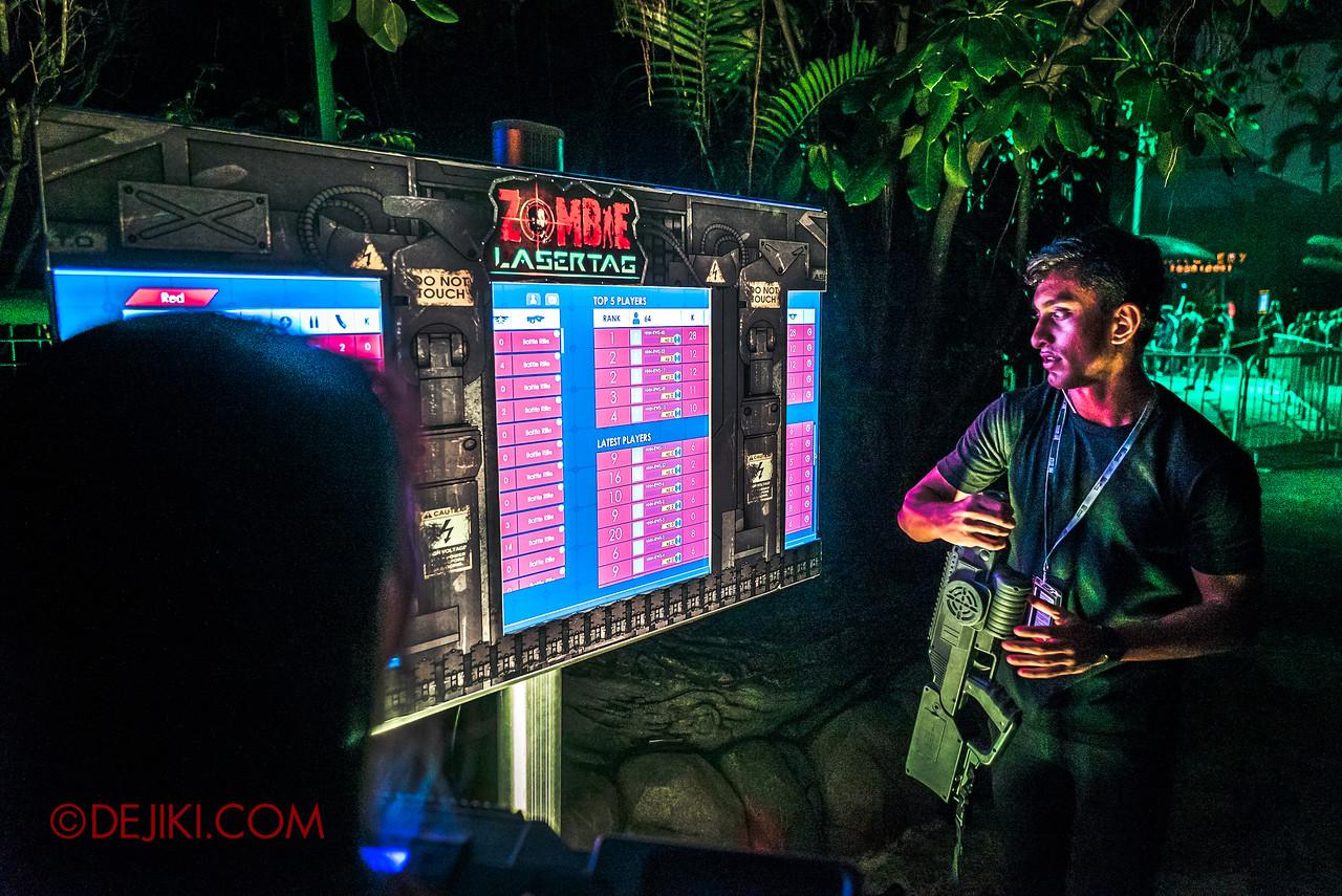 USS Halloween Horror Nights 8 Zombie Laser Tag Finale Scoreboard