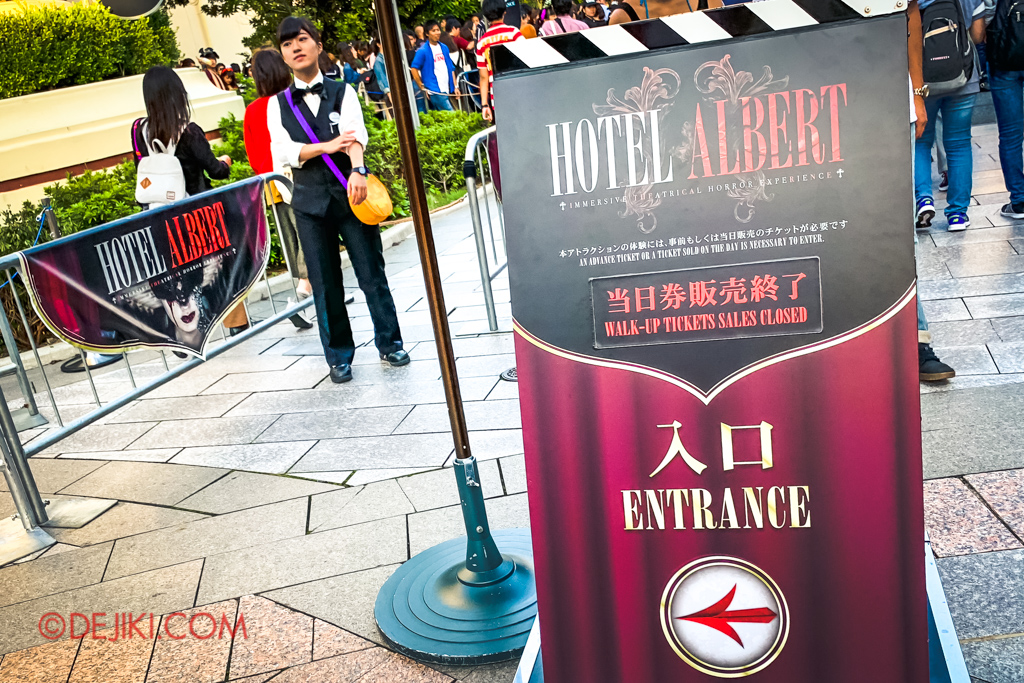 Universal Studios Japan Surprise Halloween Horror Nights 2018 - Otona Halloween for Adults - Hotel Albert horror maze immersive horror theater attraction
