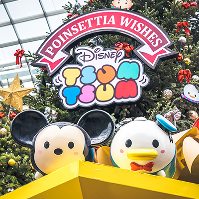 Gardens by the Bay Singapore - Poinsettia Wishes featuring Disney Tsum Tsum
