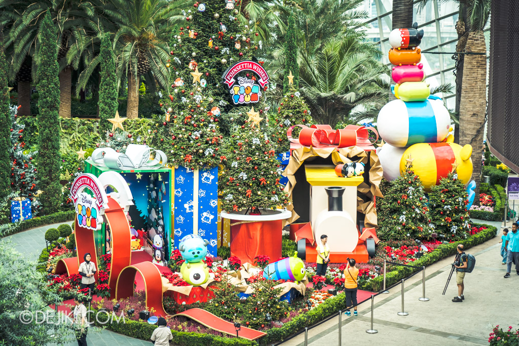 Gardens by the Bay Singapore Christmas 2018 - Poinsettia Wishes featuring Disney Tsum Tsum - Overview