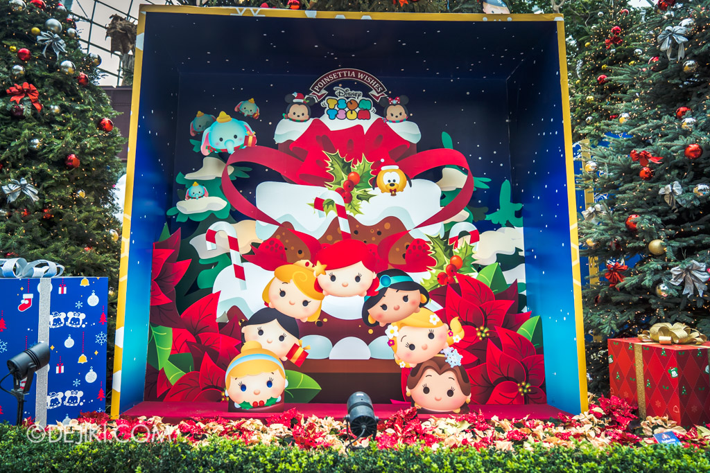 Gardens by the Bay Singapore Christmas 2018 - Poinsettia Wishes featuring Disney Tsum Tsum - Princess display