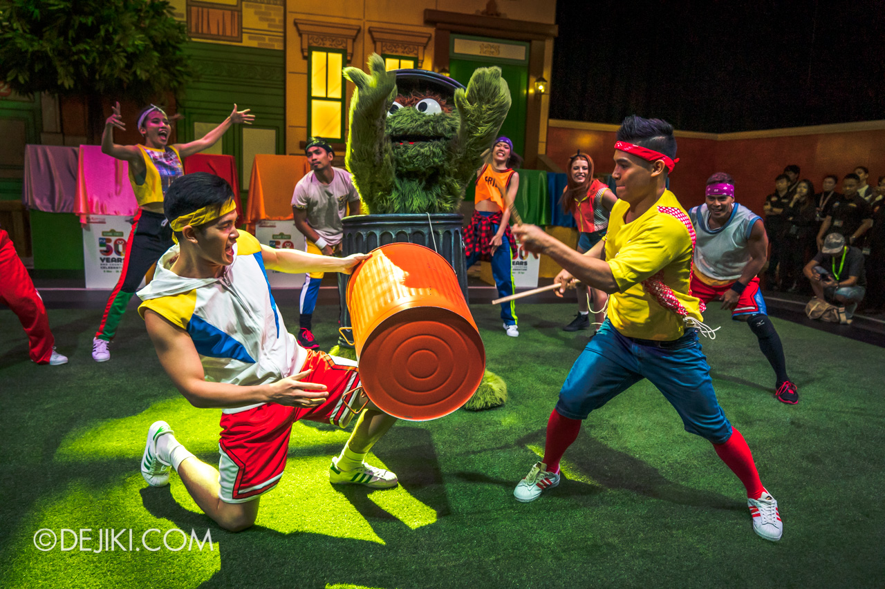 Universal Studios Singapore - Sesame Street 50 Years and Counting Celebration - a walk down sesame street launch drums