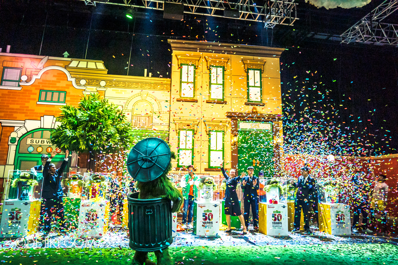 Universal Studios Singapore - Sesame Street 50 Years and Counting Celebration - a walk down sesame street launch finale