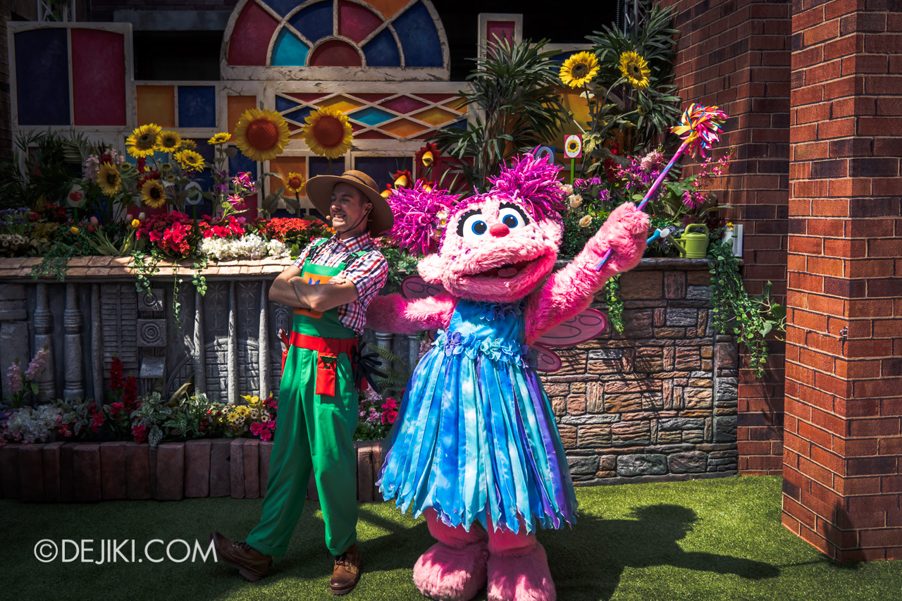 Universal Studios Singapore - Sesame Street 50 Years and Counting Celebration abby garden with matthew