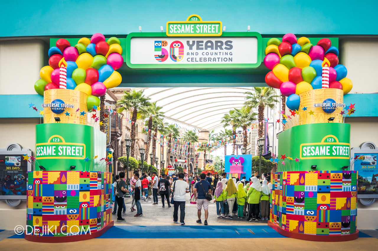 Universal Studios Singapore - Sesame Street 50 Years and Counting Celebration entrance arch