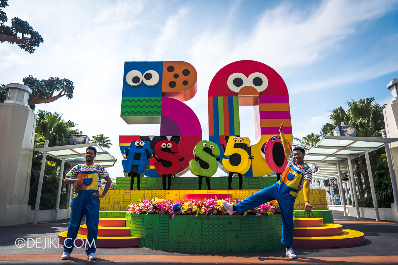 Universal Studios Singapore - Sesame Street 50 Years and Counting Celebration hollywood stage
