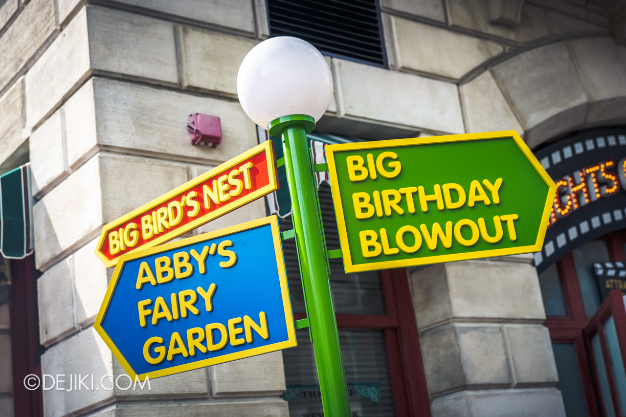 Universal Studios Singapore - Sesame Street 50 Years and Counting Celebration new york signs to abby' fairy garden and big bird's nest