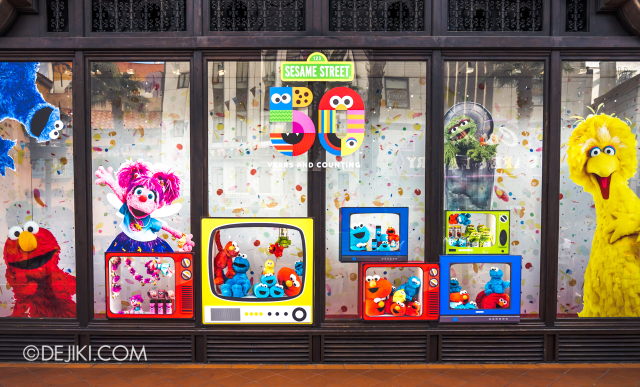 Universal Studios Singapore - Sesame Street 50 Years and Counting Celebration store window