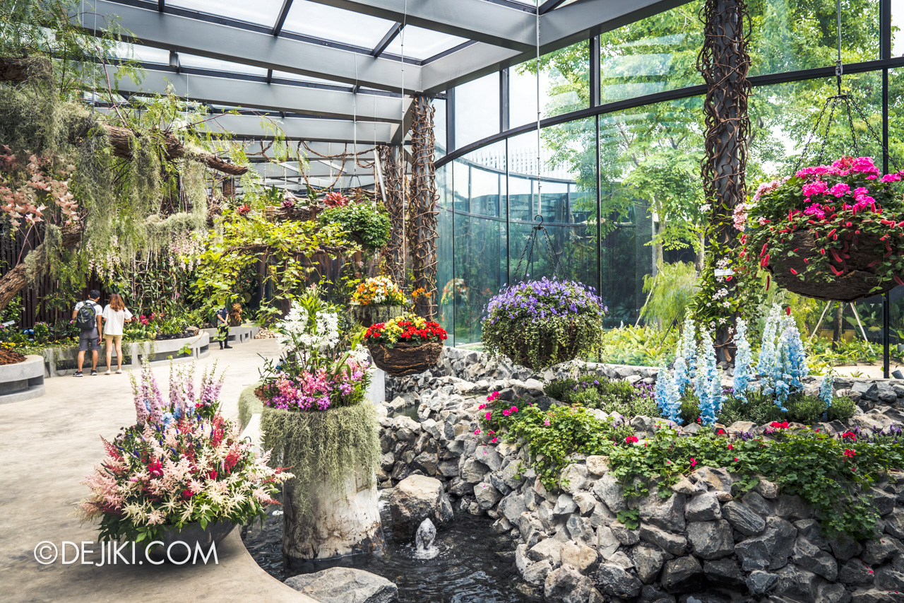 Gardens by the Bay Singapore Floral Fantasy Float landscape fountains