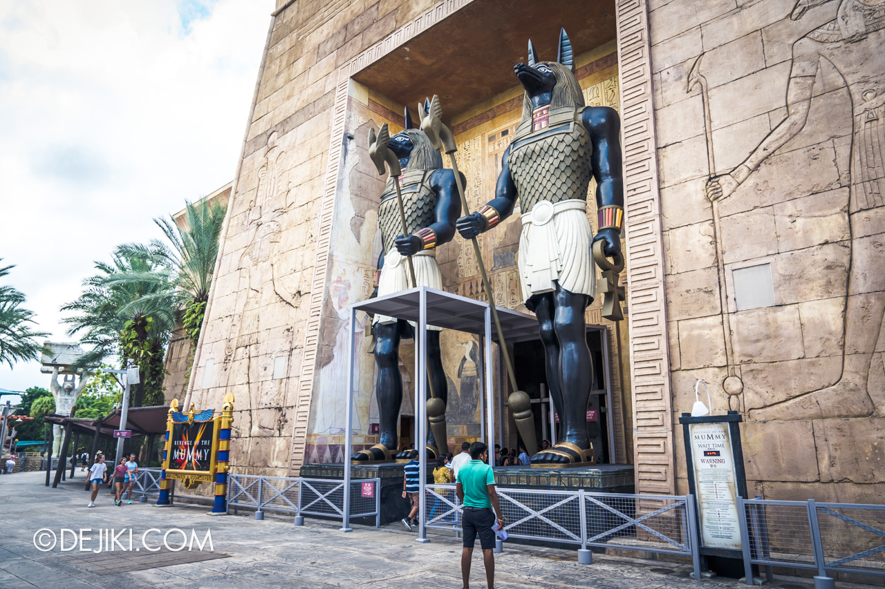 Universal Studios Singapore Ancient Egypt barrier 3 at Revenge of the Mummy