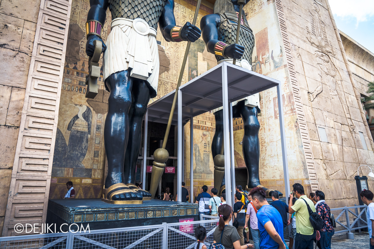 Universal Studios Singapore Ancient Egypt barrier 4 at Revenge of the Mummy