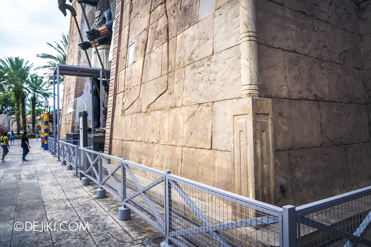 Universal Studios Singapore Ancient Egypt barrier 6 at Revenge of the Mummy