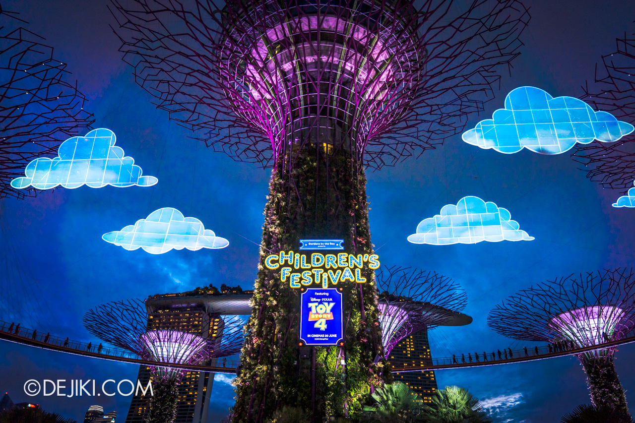 Gardens by the Bay - Disney Toy Story 4 Children's Festival 2019 - Garden Rhapsody night lights
