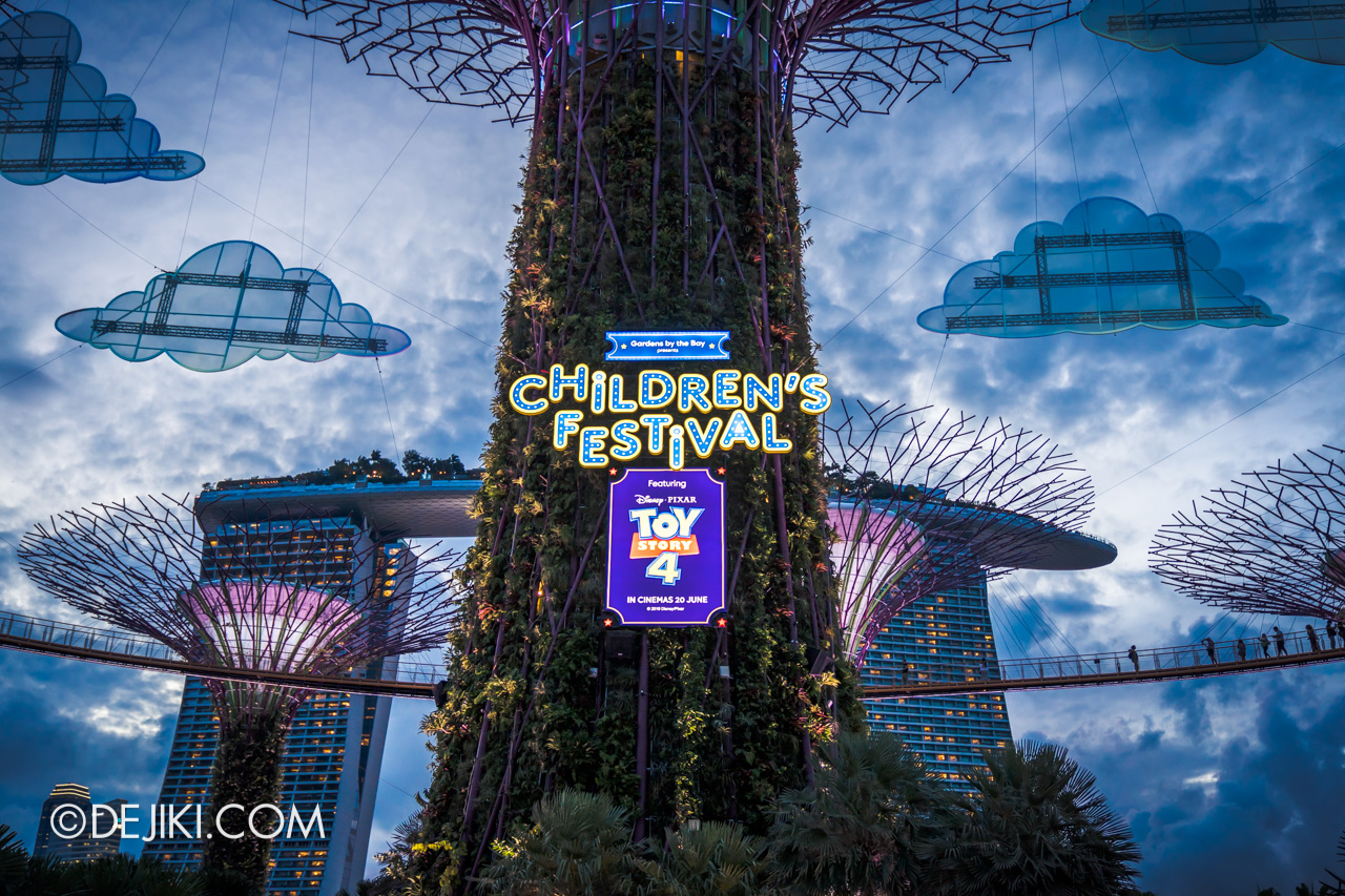 Gardens by the Bay - Disney Toy Story 4 Children's Festival 2019 - Supertree Sunset