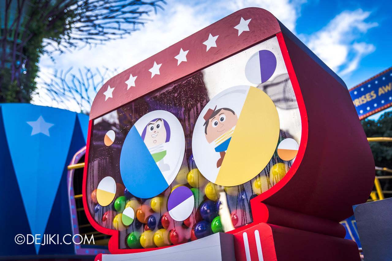 Gardens by the Bay - Disney Toy Story 4 Children's Festival 2019 - Toy Story Gachapon Capsule machine
