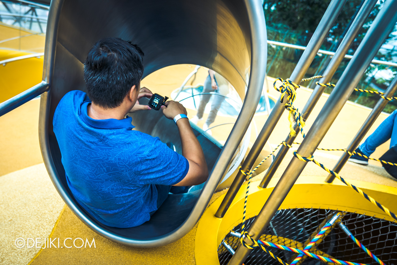 Jewel Changi Airport - Canopy Park 2 - Discovery Slides spiral