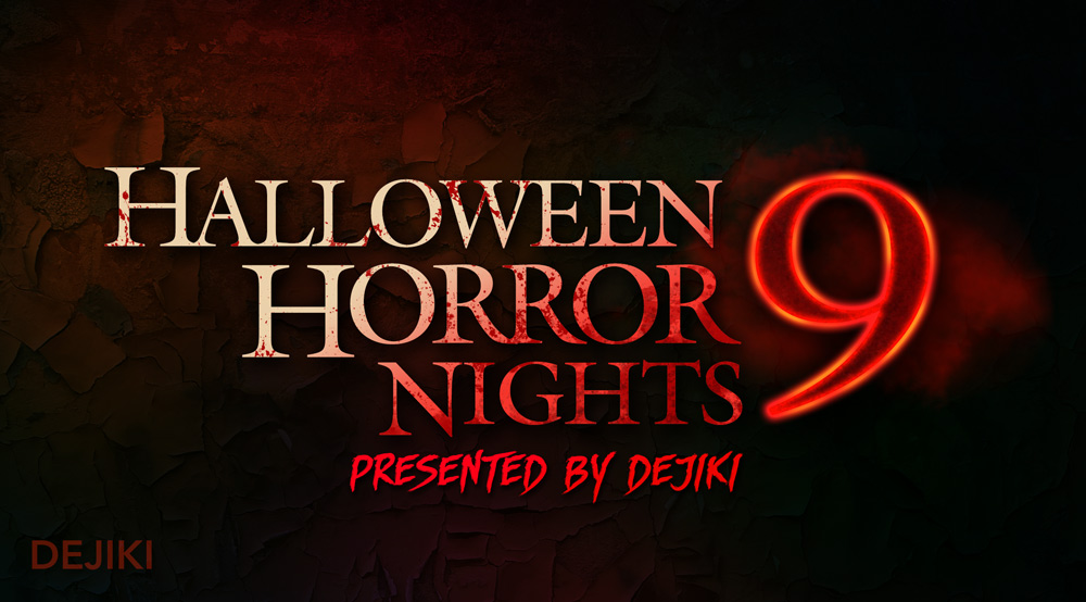 Halloween Horror Nights 9 logo by Dejiki.com Full Event Line-Up and Ticketing Information