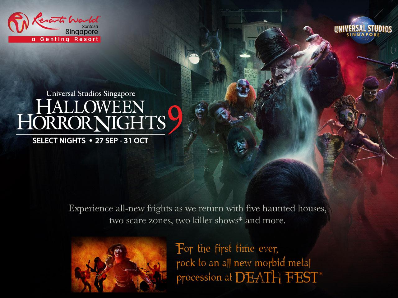 Halloween Horror Nights 9 priority booking key visual