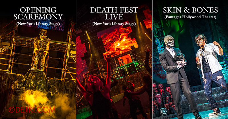 2019 Halloween Horror Nights 9 Survival Guide Killer Shows - Opening Scaremony, Death Fest LIVE, Skin & Bones show
