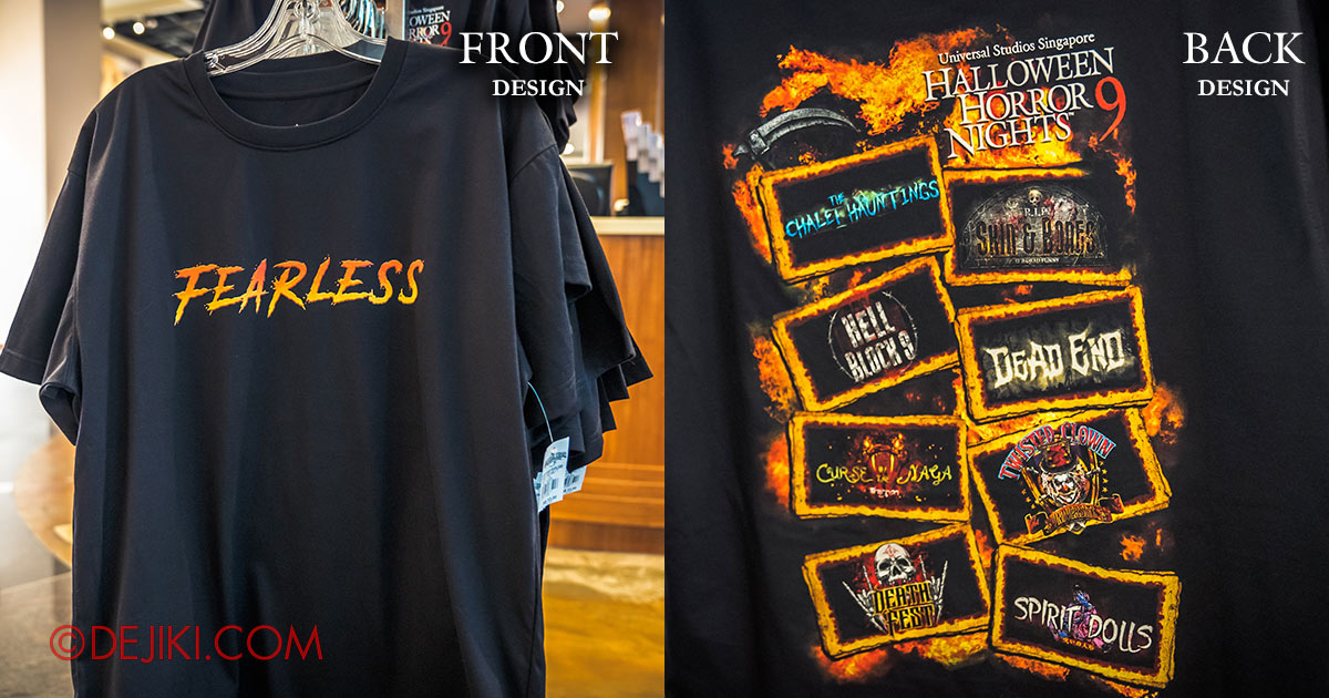 2019 Halloween Horror Nights 9 Official Merchandise FEARLESS T-Shirt