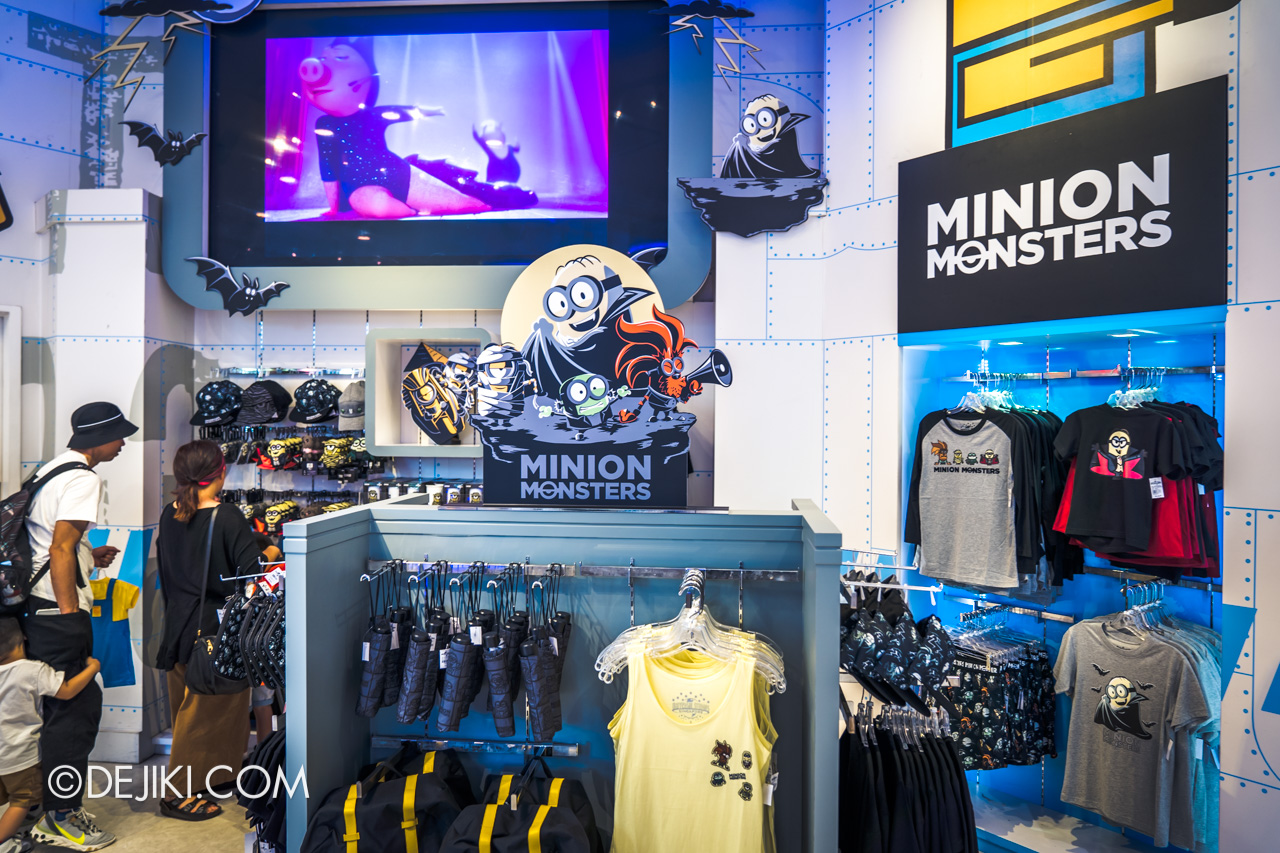 USS Daytime Halloween Family friendly event Minion Monsters merch display at Minion Mart
