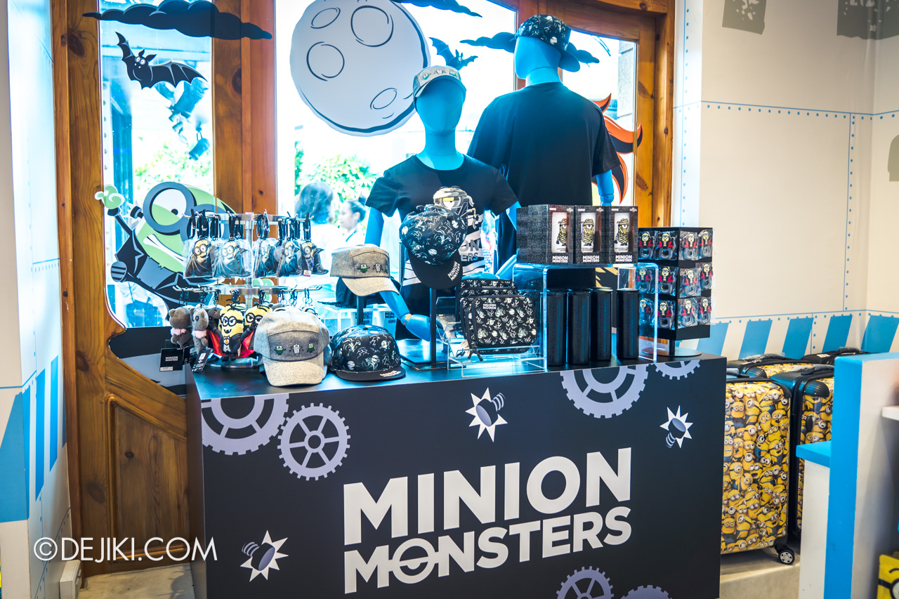 USS Daytime Halloween Family friendly event Minion Monsters merch display window