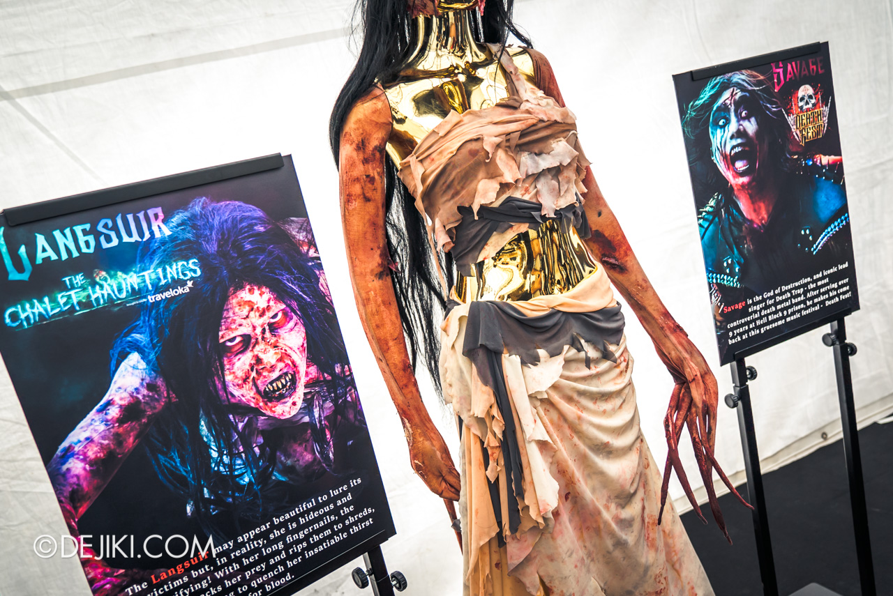 USS HHN9 Sneak Preview Behind The Scenes Icon Costumes Langsuir from The Chalet Hauntings