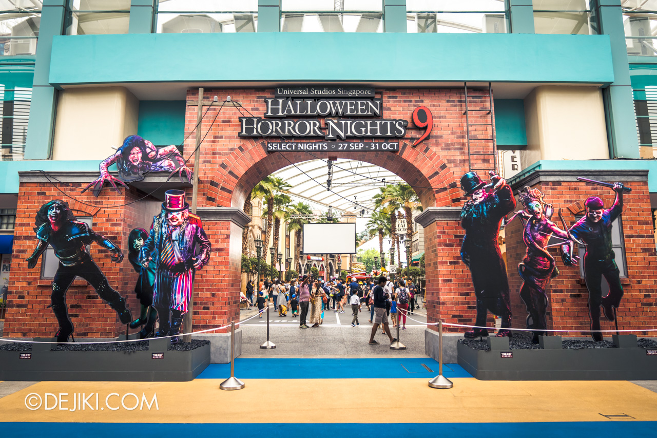USS Halloween Horror Nights 9 Construction Update Park Entrance Arch flat