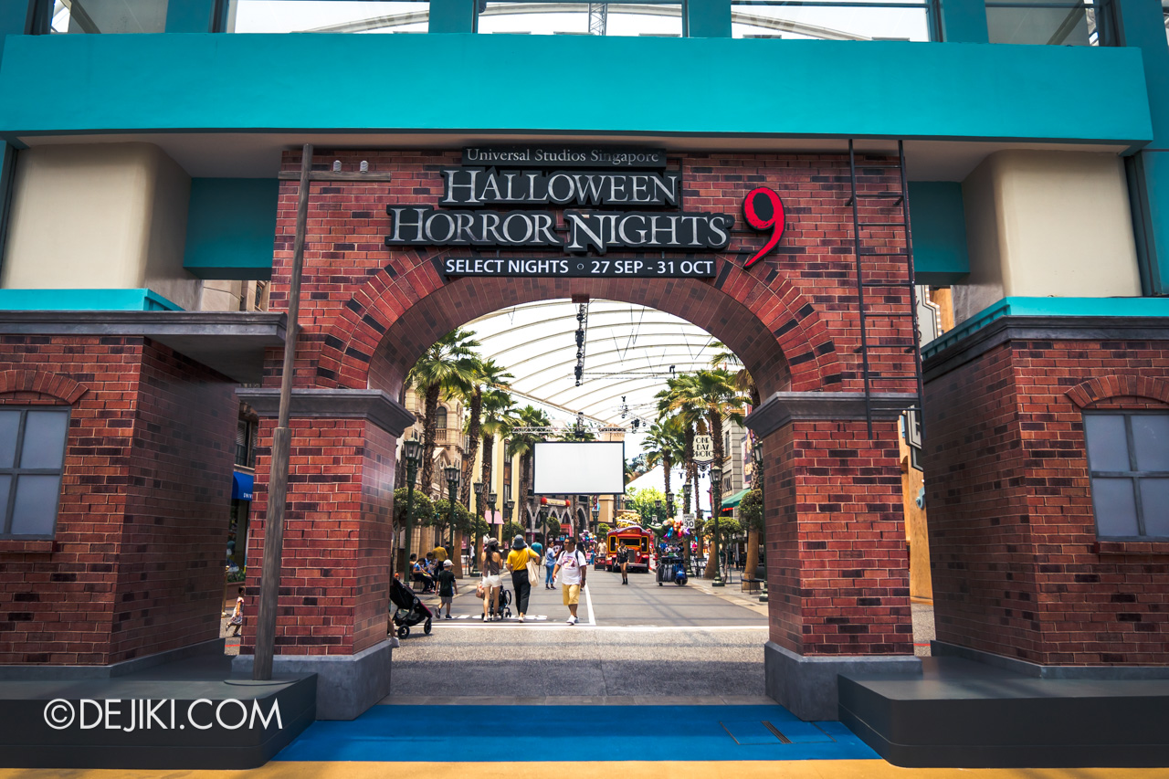 USS Halloween Horror Nights 9 Construction Update Park Entrance Arch