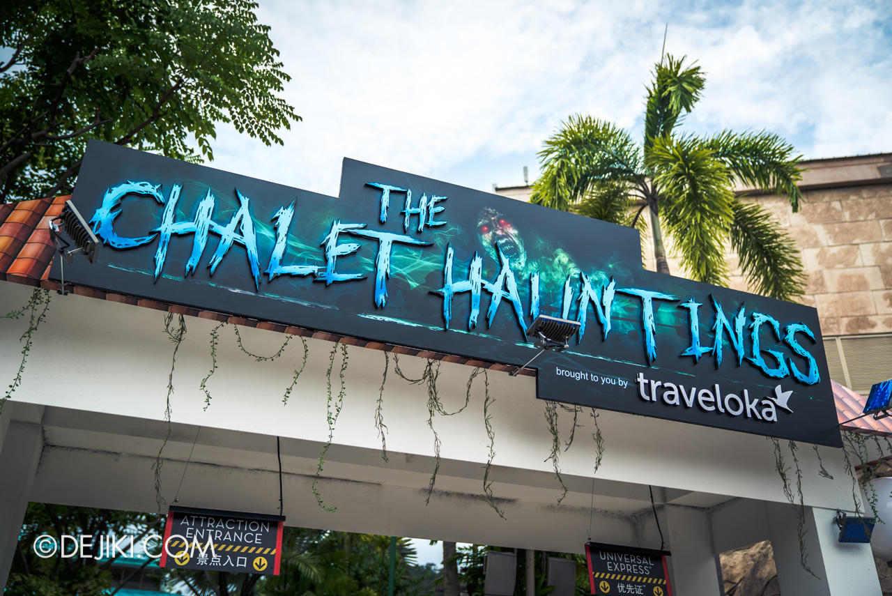USS Halloween Horror Nights 9 Construction Update The Chalet Hauntings entrance