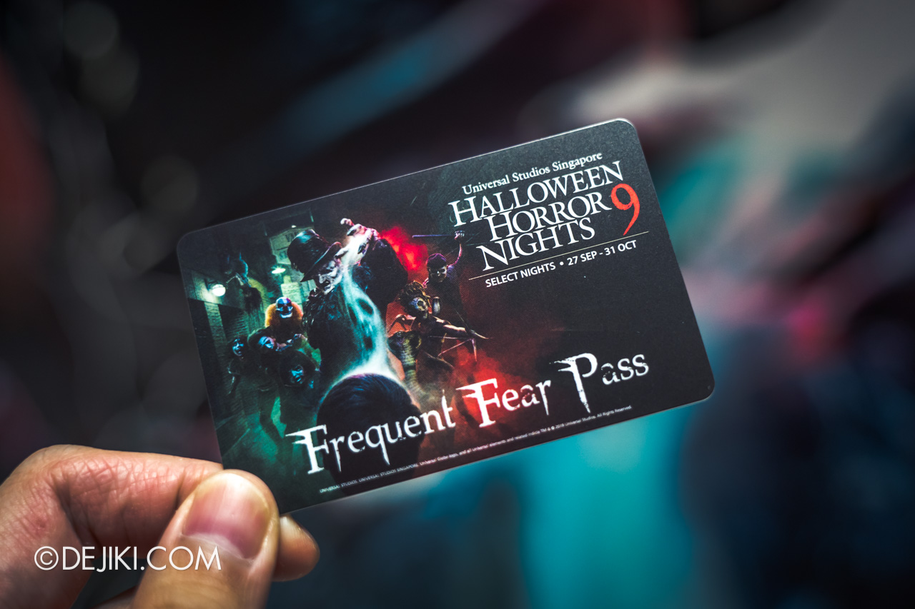 USS Halloween Horror Nights 9 Frequent Fear Pass card