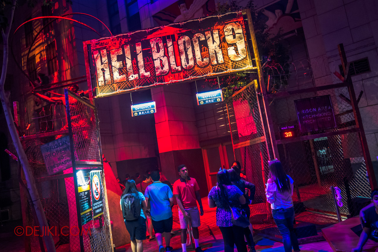 USS Halloween Horror Nights 9 Survival Guide Hell Block 9 queue entrance