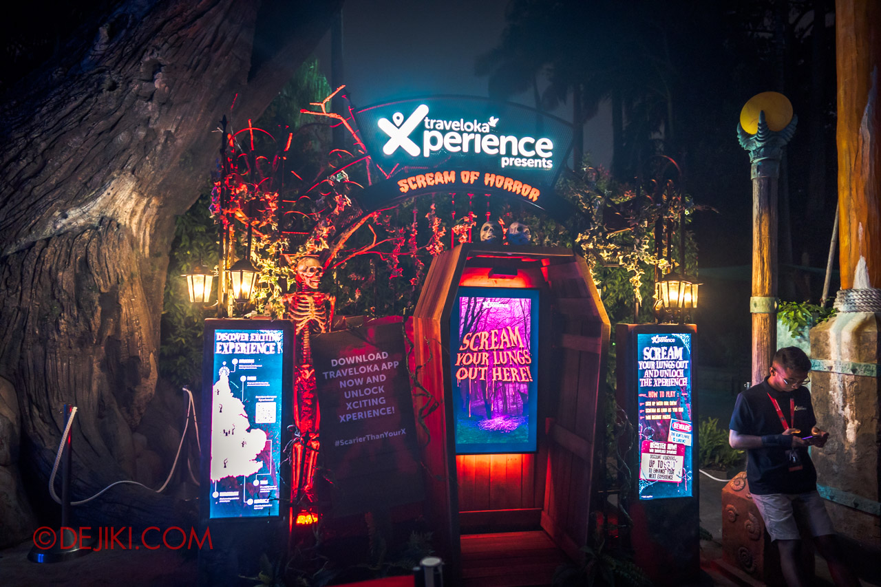 USS Halloween Horror Nights 9 Survival Guide Traveloka Xperience booth to win freebies